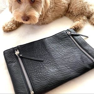 Vince Camuto leather clutch